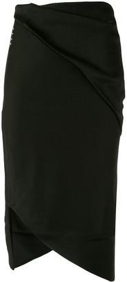 Comme Moi Asymmetric Hem Skirt