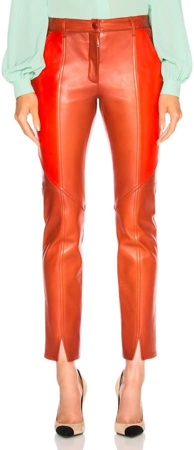 Givenchy Paneled Leather Leggings