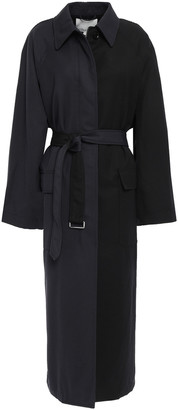 3.1 Phillip Lim Oversized Two-tone Wool-twill Trench Coat