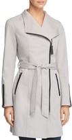 Mackage Estela Leather Trimmed Trench Coat