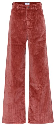 Ami High-rise wide-leg corduroy pants