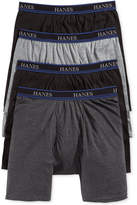 "Hanes Platinum Men's Underwear, ComfortBlend 9"" Long Leg Boxer Brief 4 Pack"
