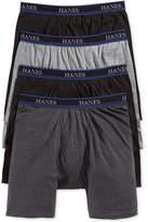 Hanes Platinum Men's Underwear, ComfortBlend 9and#034; Long Leg Boxer Brief 4 Pack