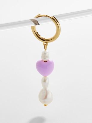 BaubleBar Viola Pearl Drop Single Earring