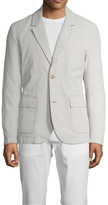 James Perse Linen Notch Lapel Blazer