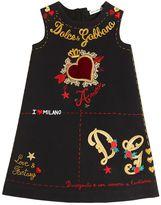 Dolce & Gabbana Tattoo Cotton Interlock Dress