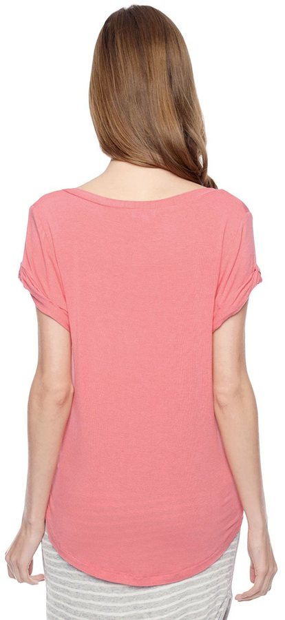 Splendid Drapey Lux V-Neck T-Shirt