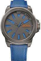 HUGO BOSS 1513008 Boss Men's Watch Analogue Quartz Bracelet and Blue Textile Cover