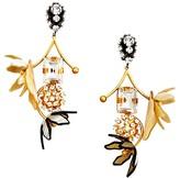 Marni Flower Clip-On Drop Earrings