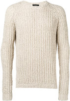 Roberto Collina ribbed trim jumper - men - Cotton/Linen/Flax/Polyester - 48
