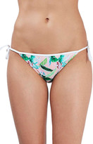 Topshop Palm Print Side Tie Bikini Bottoms
