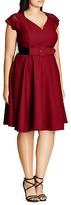 City Chic Lace-Sleeve Dress
