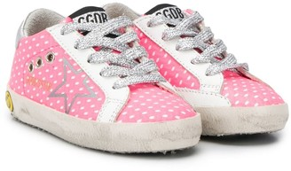 Golden Goose Kids polka-dot metallic sneakers