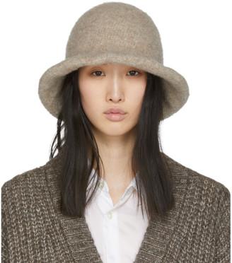 LAUREN MANOOGIAN Beige Felt Brim Hat