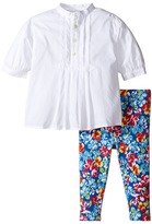 Ralph Lauren Cotton Jersey Pintuck Leggings Set Girl's Active Sets