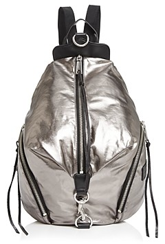 Rebecca Minkoff Julian Metallic Nylon Backpack