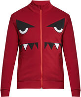 Fendi Bag Bugs zip-through nylon sweatshirt