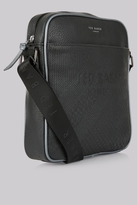 Ted Baker Black Embossed Flight Bag
