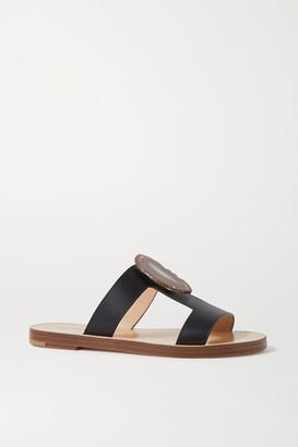 Gabriela Hearst Hades Embellished Cutout Leather Sandals - Black