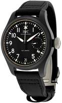 IWC Men's Pilots 46mm Leather Band Ceramic Case Sapphire Crystal Automatic Analog Watch IW502001