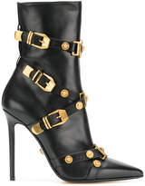 Versace buckled ankle boots