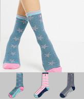 Original Penguin Boys Three Pack Socks Navy//White//Yellow