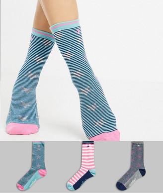 Original Penguin Penguin 3 pack sock giftbox in stripe and star