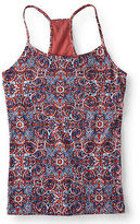 Aeropostale Womens Paisley Racerback Shelf Bra Cami Orange