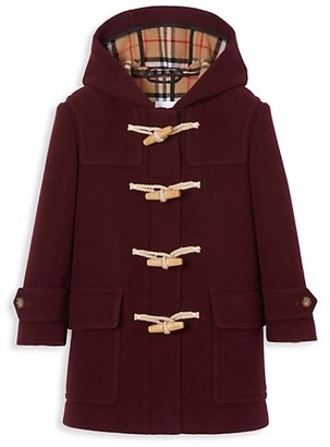 Burberry Little Girl's & Girl's Alistar Wool Duffle Coat