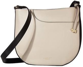 Radley London London Pockets - Medium Zip Top Crossbody (Dove Grey) Cross Body Handbags