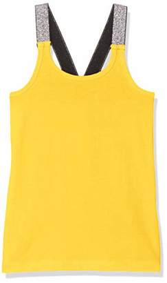 Name It NOS Girl's Nkfvals XSL Racer Tank Top Noos Vest, Bright White