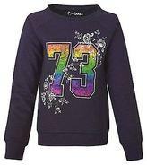 Hanes Girls' Sporty Floral Crewneck Sweatshirt