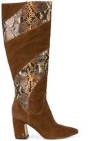 Sam Edelman snakeskin panel boots