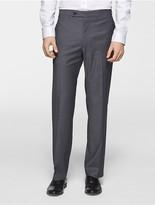 Calvin Klein X Fit Ultra Slim Fit Light Grey Sharkskin Suit Pants