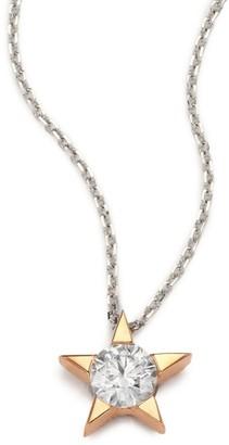 Hearts On Fire Illa Diamond & 18K Rose Gold Pendant Necklace
