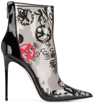 Le Silla Graphic-Print Ankle Boots