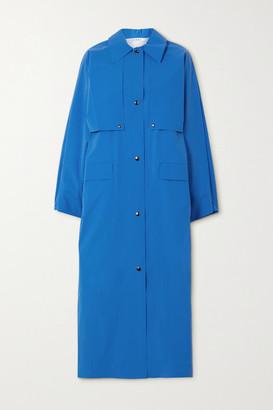 Kassl Editions Reversible Convertible Cotton-blend Trench Coat - Blue