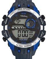 digital watches for men shopstyle uk tekday 655898 watch men quartz digital black dial blue plastic bracelet