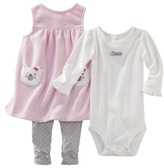 Carter's JUST ONE YOU Made by Infant Girls' 3 Piece Kitten Set - White/Pink/Gray