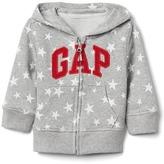 Gap Logo starry zip hoodie