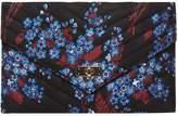 Dorothy Perkins Black Floral Satin Twistlock Clutch Bag
