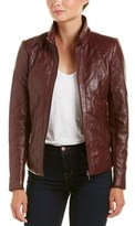 Badgley Mischka Quilted Leather Jacket.
