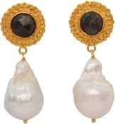 Carousel Jewels Sapphire & Baroque Pearl Earrings