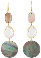 Ippolita 18K Quartz and Abalone Drop Earrings