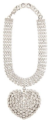 Alessandra Rich Crystal Heart-pendant Choker - Womens - Crystal