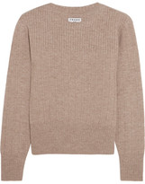 Frame Accordian Ribbed Wool And Cashmere-blend Sweater - Taupe
