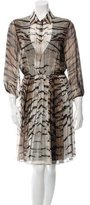 Giambattista Valli Silk Long Sleeve Dress
