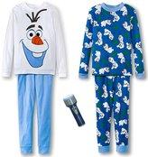 Disney Frozen Boys Olaf 4 Pc Cotton Sleepwear Set