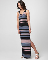 Le Château Stripe Jersey Scoop Neck Maxi Dress