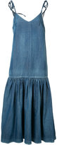 Co dropped waist denim dress - women - Cotton/Linen/Flax - M